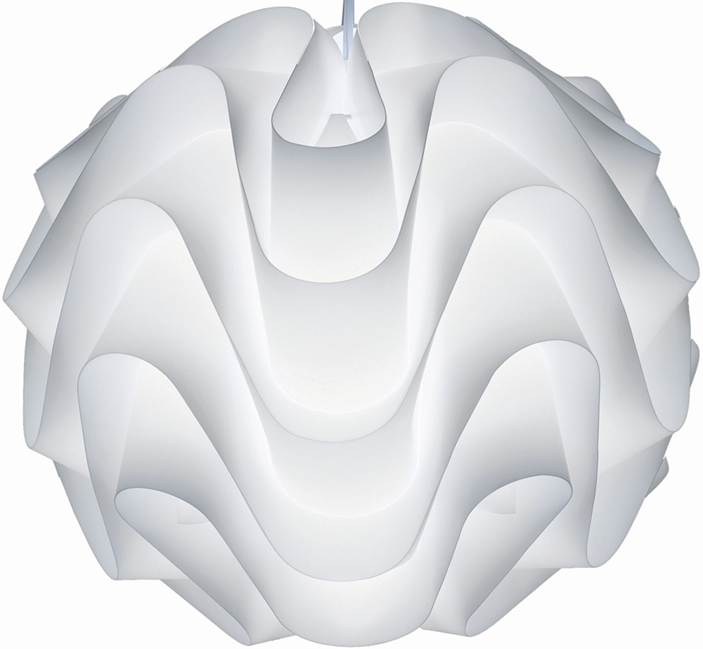"""The Nuevo Living Meringue Pendant Lamp is available in 17"""" and 26""""."""