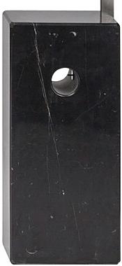 the mid century arc floor lamp in black