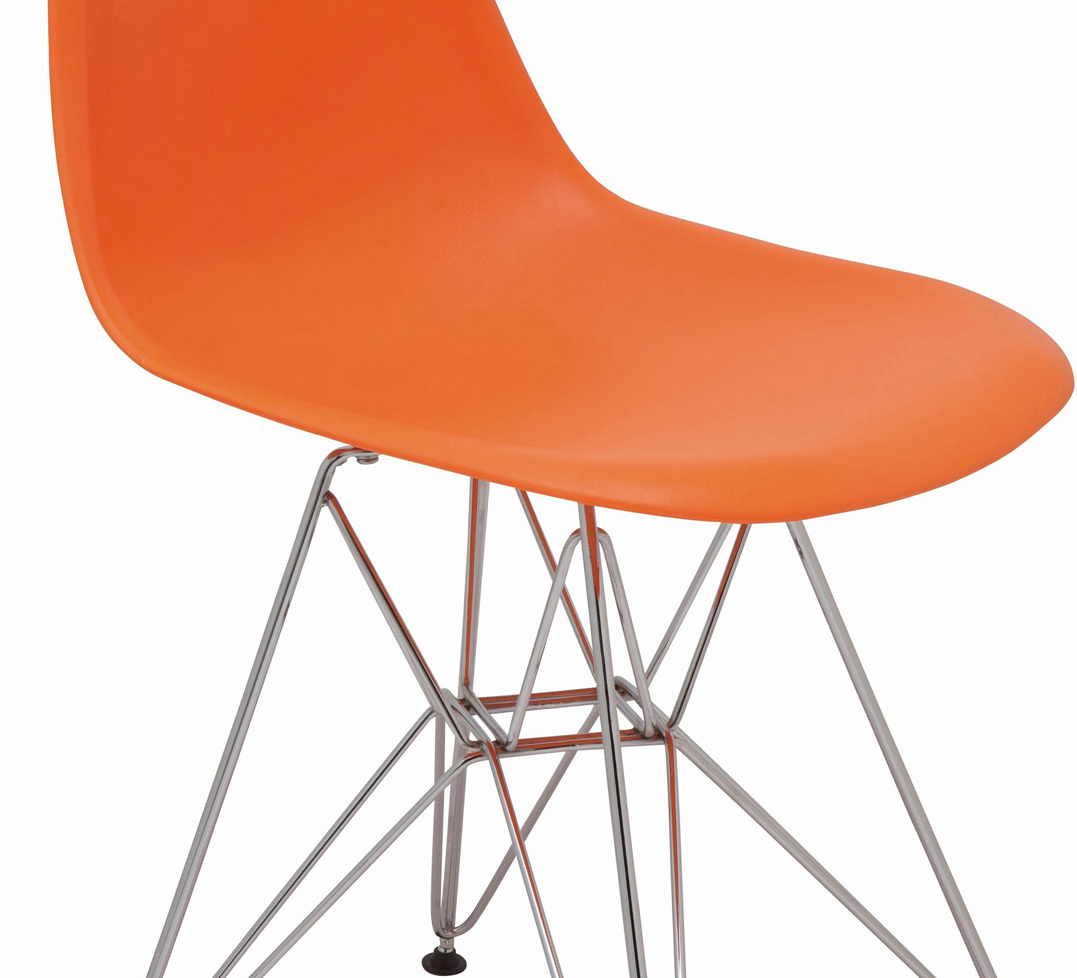 the nuevo max dining chair in orange