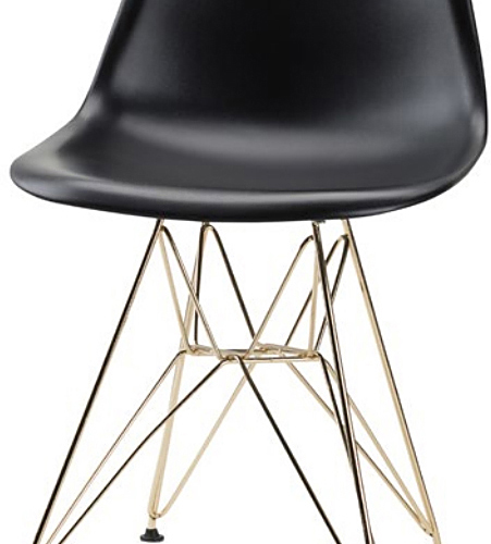 the nuevo max dining chair in black gold