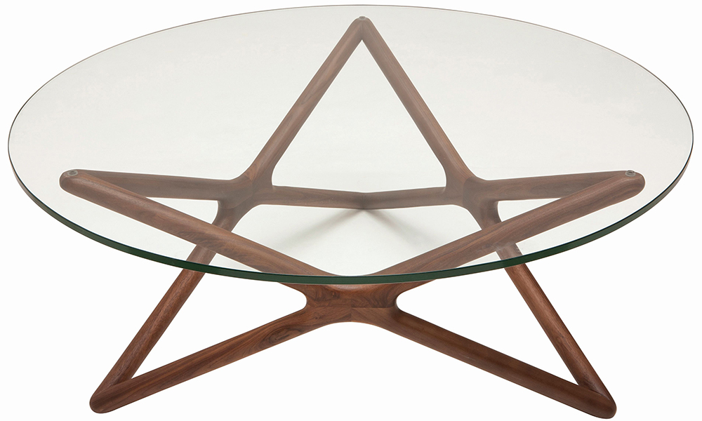 The Nuevo Living Star Coffee Table Can Be Purchased In A American Walnut Or Ash Finish