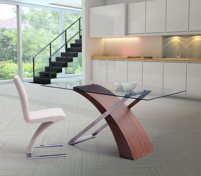 outreach dining table by zuo mod