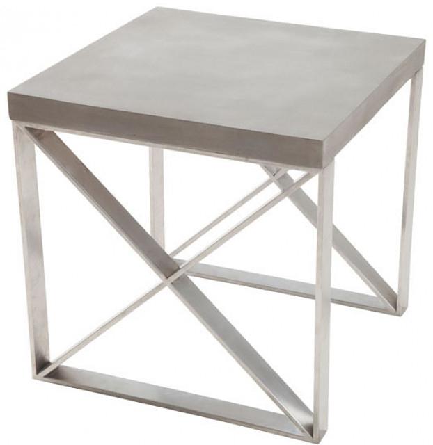 faux concrete top side table available at AdvancedInteriorDesigns.com