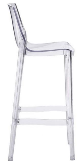 zuo phantom clear bar chair