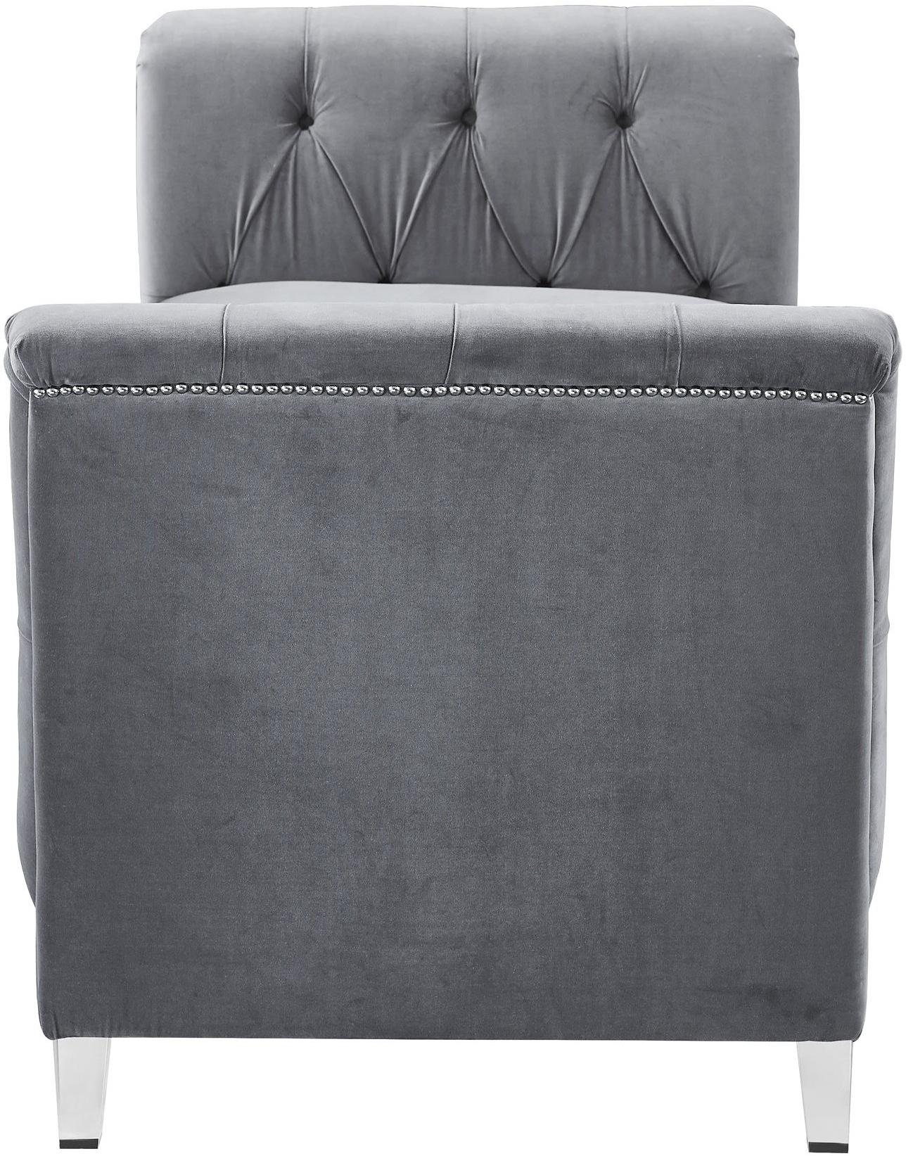velvet grey presidio bench daybed