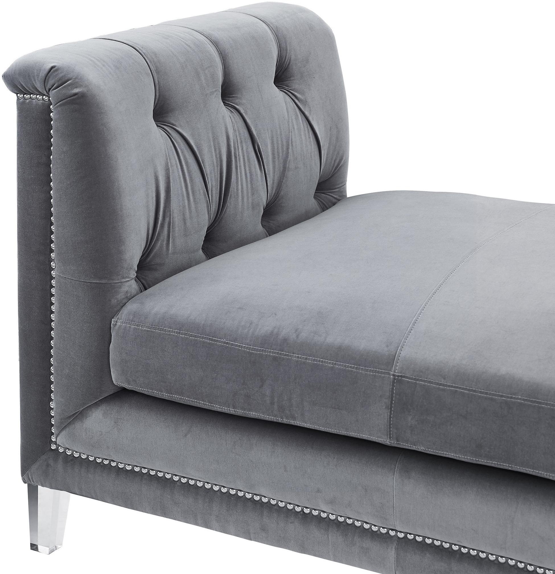 the grey velvet presidio bench daybed