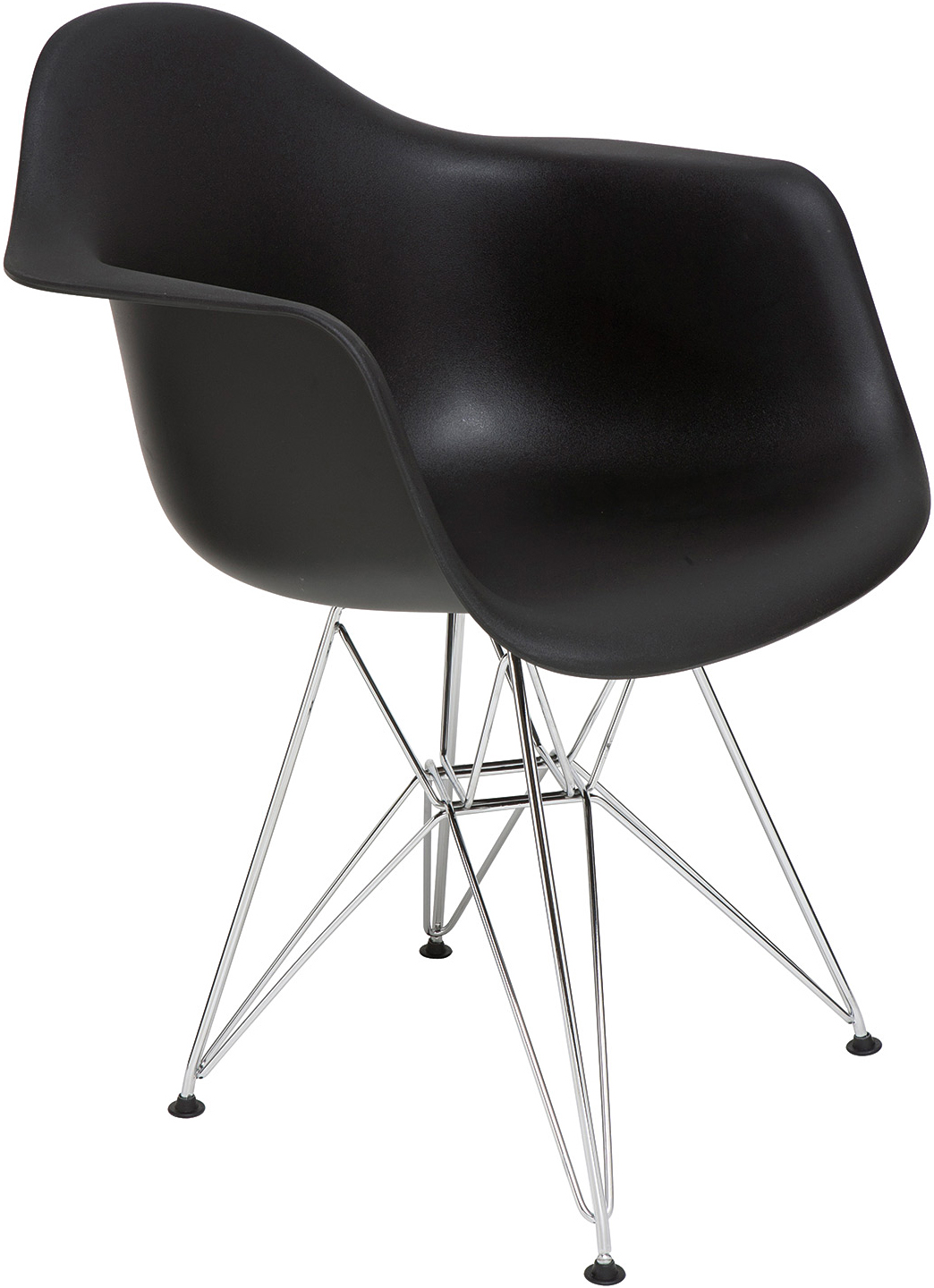 the ray dining chair in black