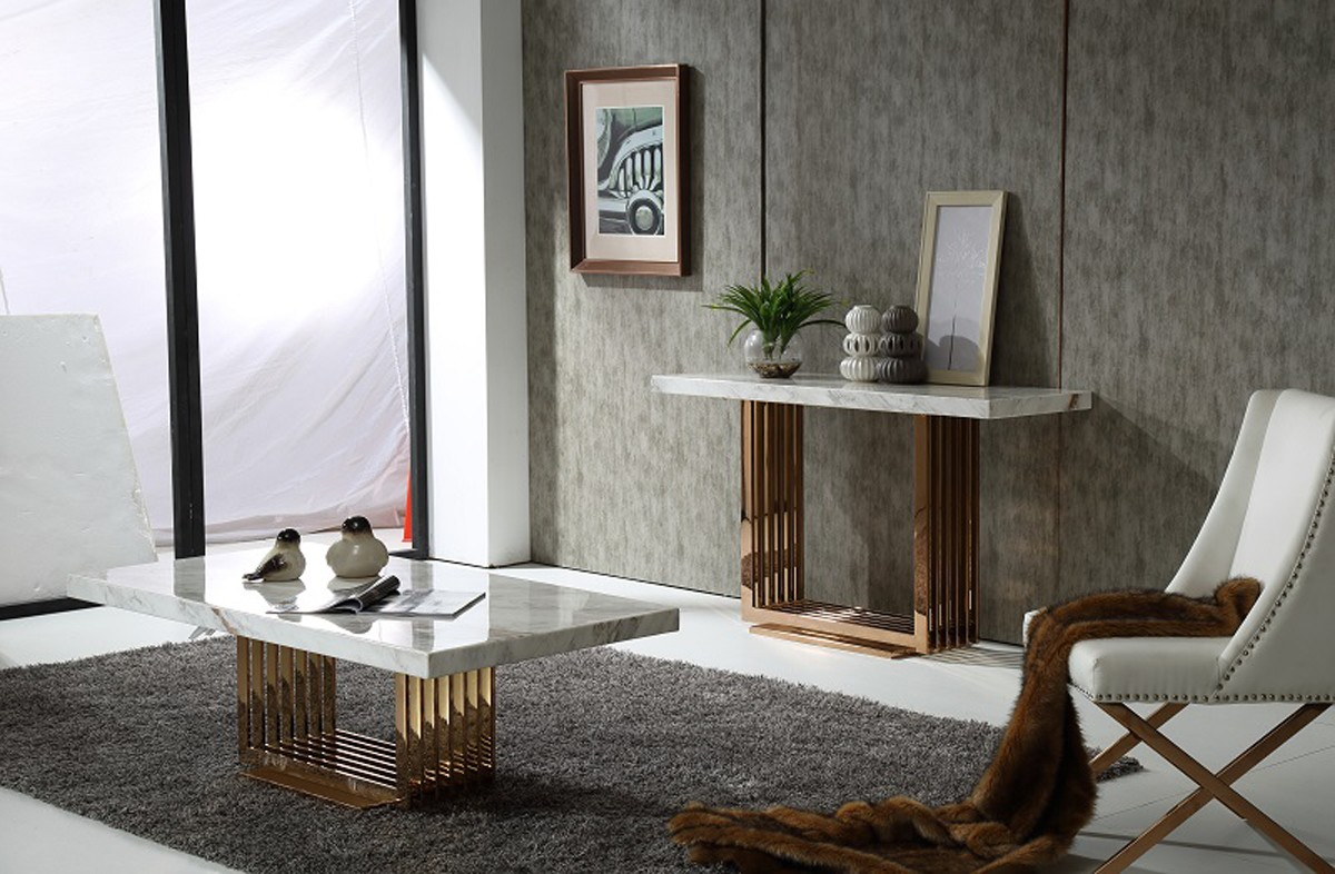 discount rose gold console table available at advanced interior designs