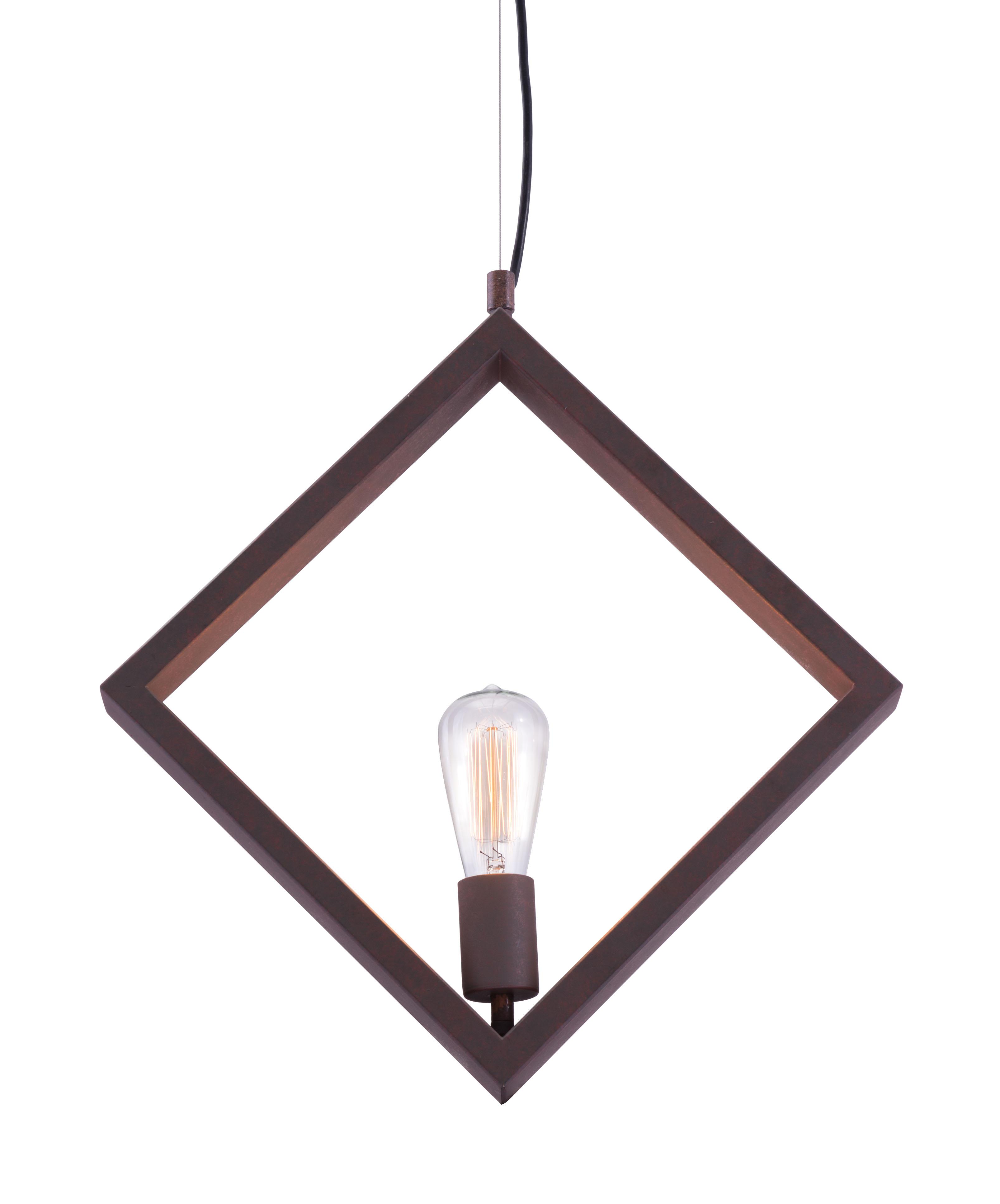 small diamond shape ceiling lamp