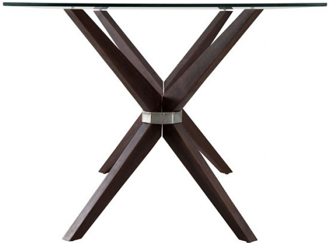 side profile of the victory dining table
