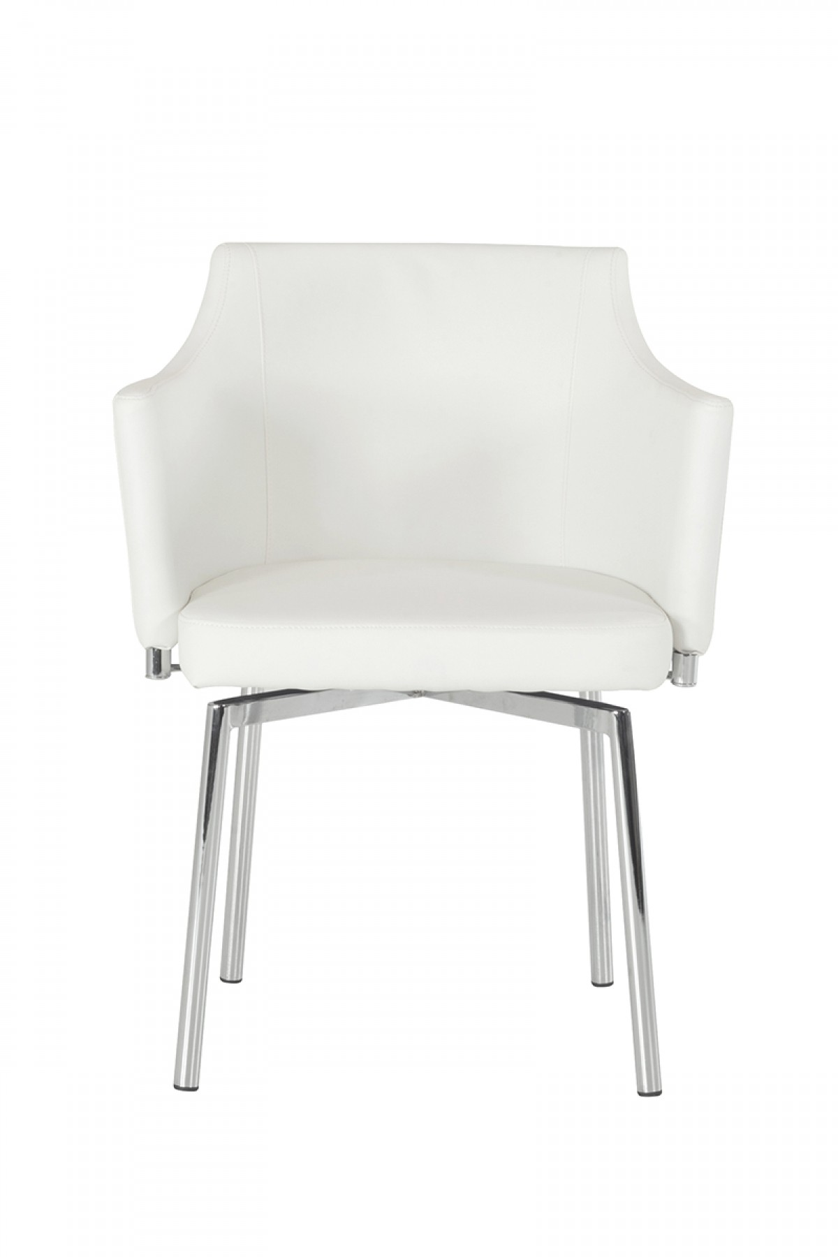 check out the brand new white leatherette dining chair available at advanced interior designs