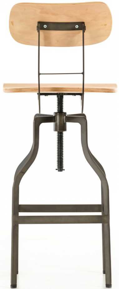 This wooden bar stool with back is called the Clarence and is a great modern piece to own.