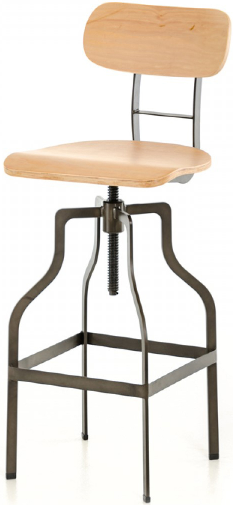 This wooden bar stool is available at AdvancedInteriorDesigns.com