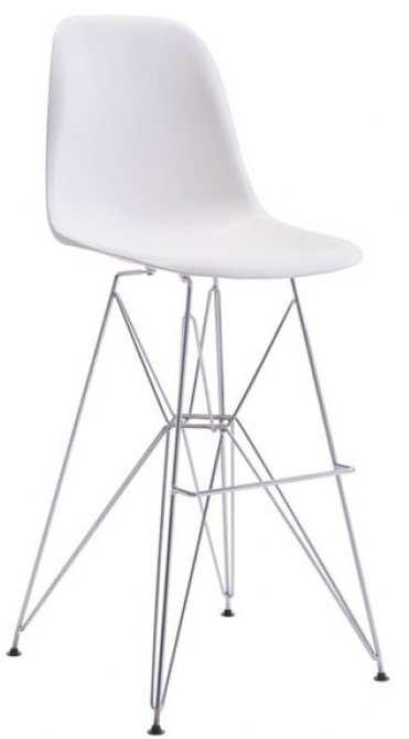 zuo zip bar chair in white available at AdvancedInteriorDesigns.com