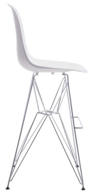 Zuo Zip Bar Chair In White