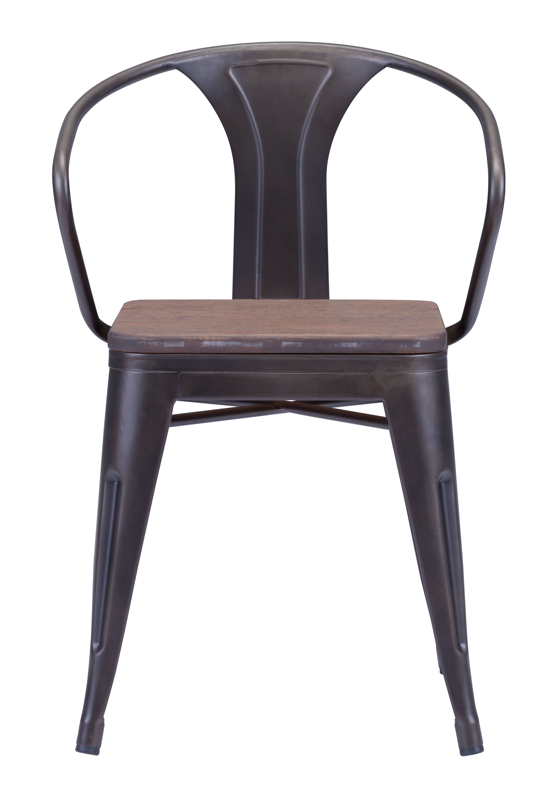 ... 108148 helix dining chair ...  sc 1 st  Advanced Interior Designs & ZUO HELIX DINING CHAIR WITH WOOD SEAT | GUNMETAL CHAIRS INDUSTRIAL
