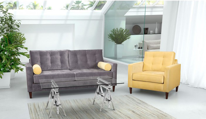 This modern stainless steel chrome finish coffee table can be purchased at AdvancedInteriorDesigns.com