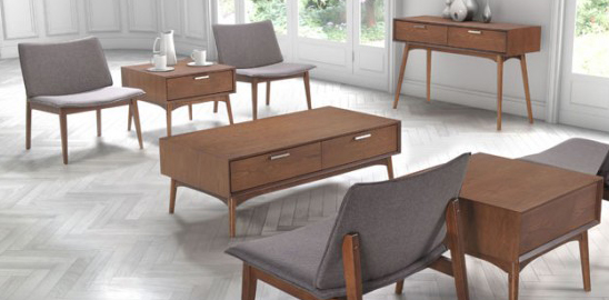 mid century modern coffee table available at Advanced Interior Designs