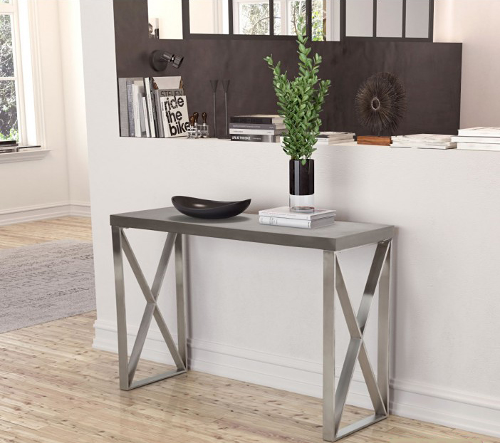 industrial style console table the paragon