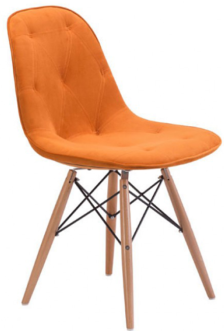 new zuo modern 104158 probability dining chair orange