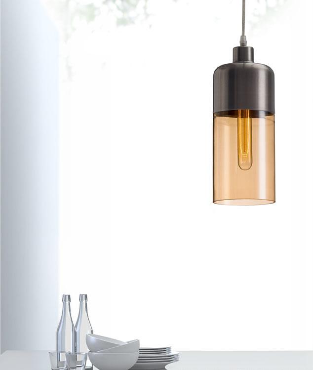 Vente Ceiling Lamp Satin & Amber