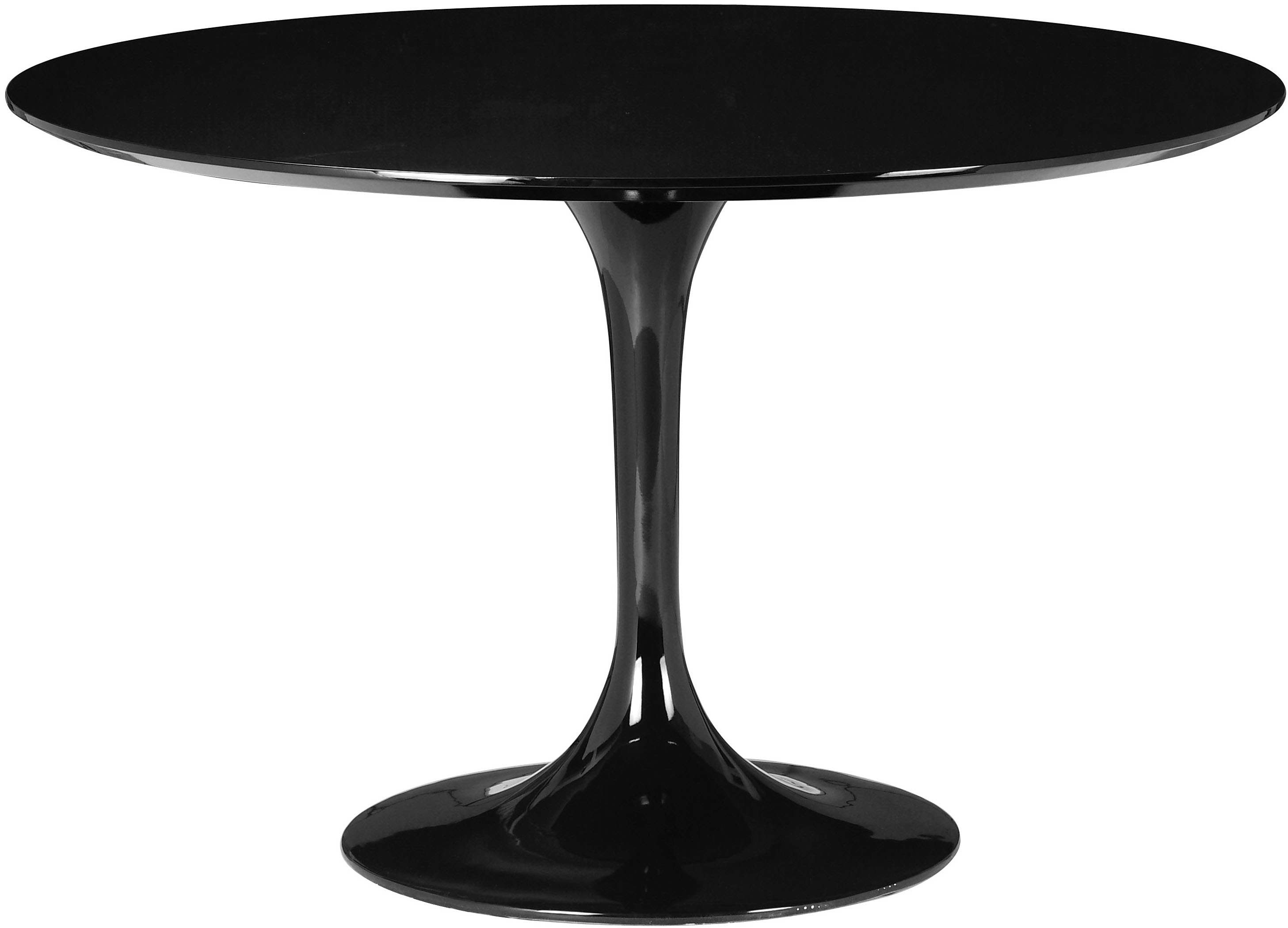 the black round wilco dining table by zuo modern