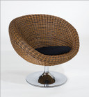 Oliana Rattan Swivel Chair