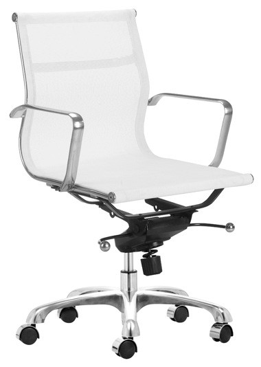 White Mesh Management Chairs Home And Office Furniture
