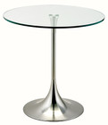 Universe Side Table In Satin Steel