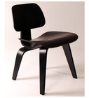 Molded Plywood Dining Chair-Ebony