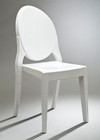 Ghost Style Glossy Chair - White