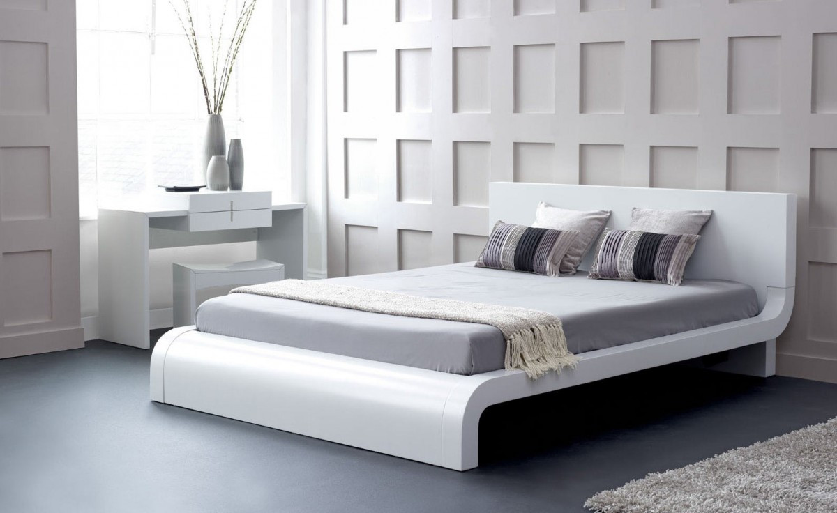 Zen Japanese Style Platform Bed King Size