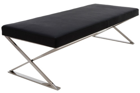 Calais Leather Bench
