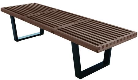 hardwood bench walnut 5 feet