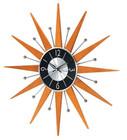 Starburst Wooden Wall Clock