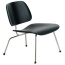 Molded Plywood Lounge Chair W/Metal Legs - Ebony