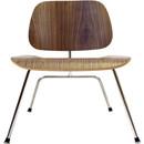 Molded Plywood Lounge Chair W/Metal Legs - White Oak