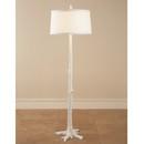 White Faux Bois Floor Lamp