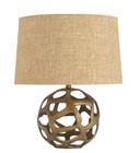 Ennis Antique Brass Web Sphere Lamp