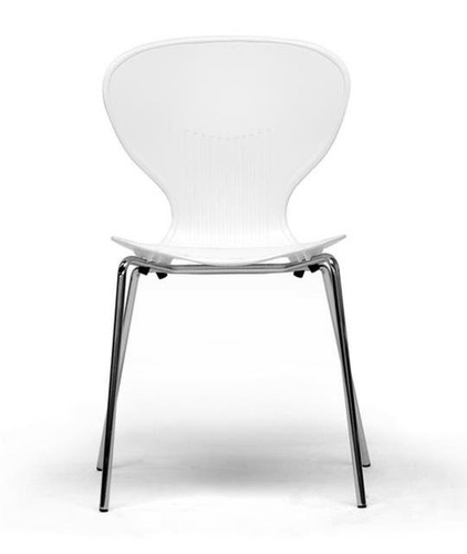 Larkin Stacking Side Chair in White