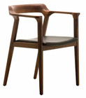 Nuevo Caitlan Dining Chair Tan Walnut