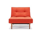 Splitback Chair With Wooden Legs - Burned Orange