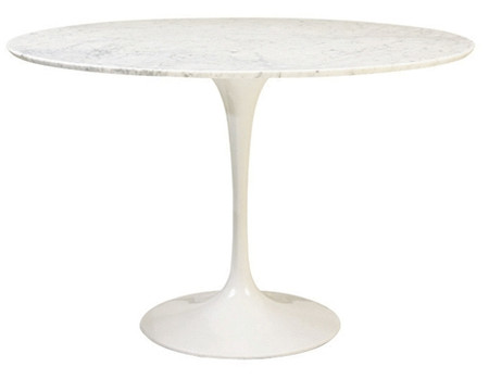 saarinen dining table 40 round white marble. Black Bedroom Furniture Sets. Home Design Ideas