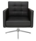 Nuevo Black Maxwell Lounge Chair