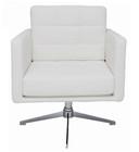 Maxwell White Lounge Chair by Nuevo - HGAF263