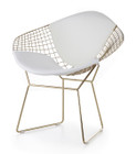 Bertoia Diamond Chair In Gold Finish