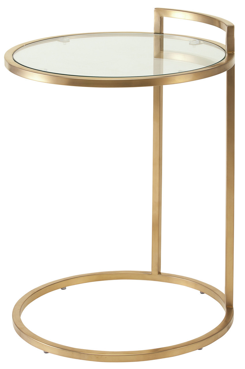 gold end table. Nuevo Lily Side Table Gold End O