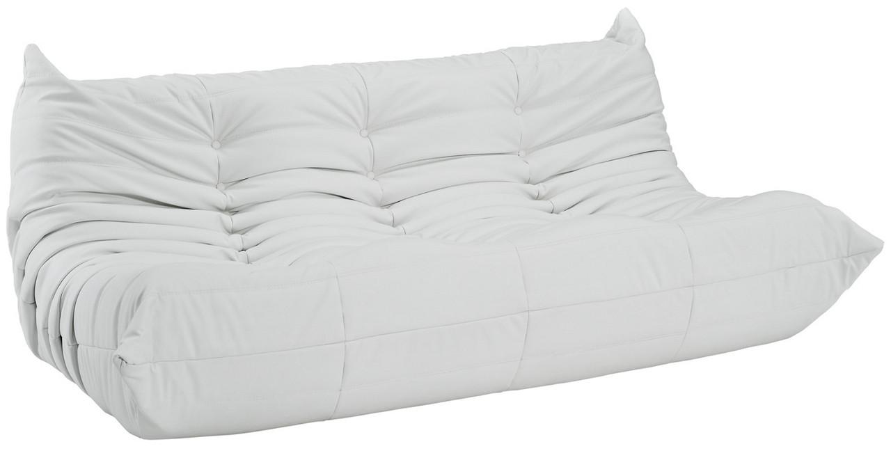 Downlow Sofa White Leather Advancedinteriordesigns