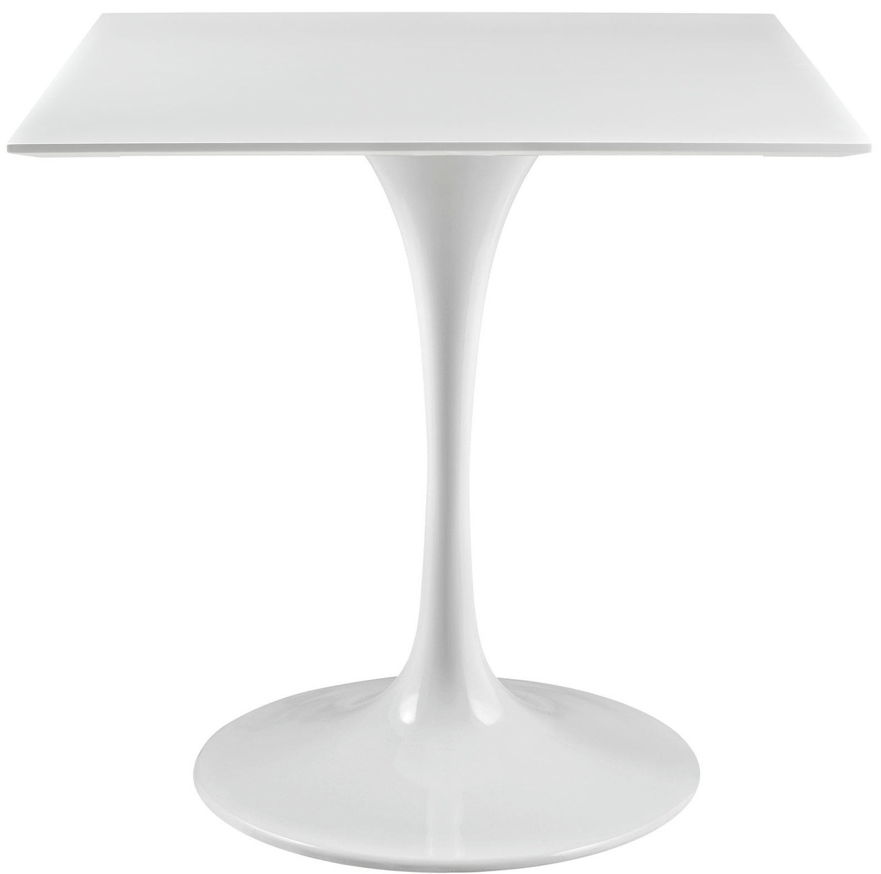White Tulip Dining Table With Squre Top And Many Top Sizes Home - Tulip table sizes