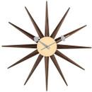 Gorge Nelson Walnut Sunburst Clock